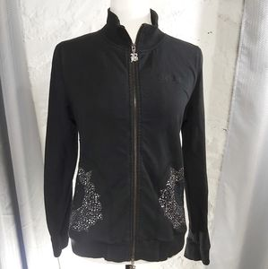 BCBG MaxAzria Black Zip-up Sweater